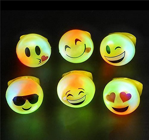 Great Features Of 24 Bright Flashing Emoji LED Rings