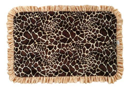Patricia Ann Designs Ruffles Giraffe/Natural Cuddle Over-Sized Blanket, Tan, Brown, Gold