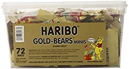 Haribo Gold-Bears Minis, 72-Count, 1 Pound 9.4 Ounce