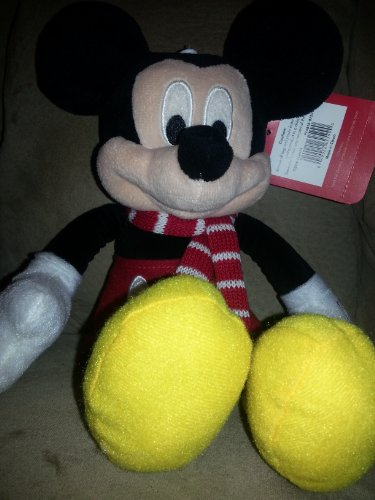 Disney Mickey Mouse Plush with Winter Scarf - 11""