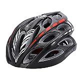Gonex Adult Bike Helmet, Cycling Road Mountain Helmet with Safety Light, Adjustable 58-62cm, 24 Integrated Flow Vents