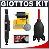 Giottos Rocket-Air Blower Professional AA1900 Large + Digital SLR Camera & Lens Cleaning Kit for Canon Rebel T1i, XS, XSi, XTi, XT, EOS 1D, 1Ds Mark II III IV, 5D, 50D, 40D, 7D