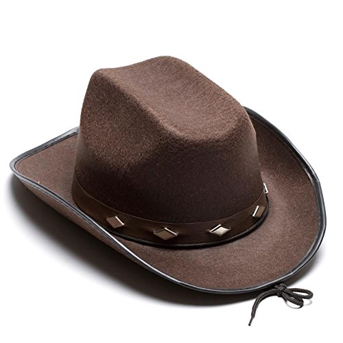 Brown Studded Cowboy Hat