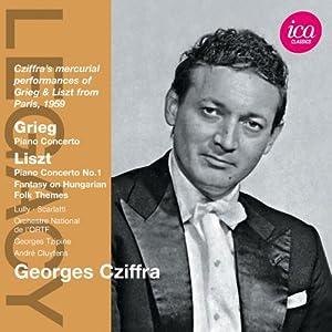 Grieg/ Liszt: Piano Concertos (Paris 1959) (Georges Cziffra/ Orchestre National de l'ORTF/ Georges Tzipine/ André Cluytens) (ICA  Classics: ICAC 5079)