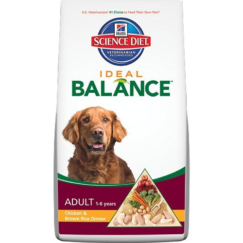 Hill's Science Diet Ideal Balance Adult Chicken and Brown Rice Dinner Dry Dog Food Bag, 30-Pound
