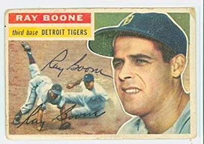 Ray Boone AUTOGRAPH d.04 1956 Topps #6 Detroit Tigers
