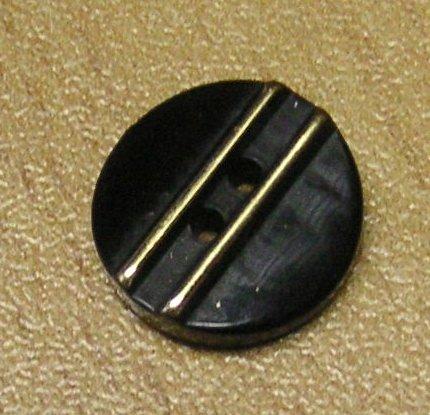 5 Hemden Blusen Knöpfe 11 mm schwarz gold (1 Stück/0,30 €)