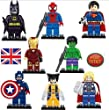 Marvel DC Super Hero Lot of 8 Set Mini Action Figures Building Toy New 01K1