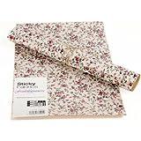 HAB & GUT (TS031)Feuille de Tissu AUTOCOLLANT - roses rouge; Dimensions: 210 x 297 mm