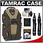 Tamrac 5786 Evolution 6 Photo Digital SLR Camera Sling Backpack (Brown/Tan) with Lenspens + Accessory Kit Combo for Canon EOS 70D, 6D, 5D Mark III, Rebel T3, T5i, SL1, Nikon D3200, D5200, D5300, D7100, D600, D800, Sony Alpha A65, A77, A99