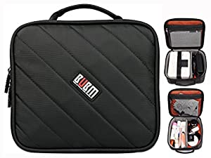BUBM Portable Universal Electronics Accessories Organizer Travel Carrying Case Digital Storage Bag for Canon Printer CP910/CP900(M,Black)