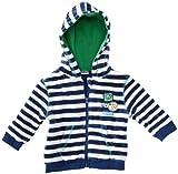 Eltern by Salt & Pepper Baby - Jungen Sweatjacke, gestreift 3518106, Gr. 68, Blau (indigo blue)