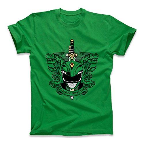 Power Rangers Green Dragonzord Draconis Monstram, Kid's T-Shirt, Green, X-Large (Green Ranger Shirt Kids compare prices)