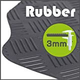 Ford Ranger 2012 to Current Rubber 3mm Black Tailored Floor Mats