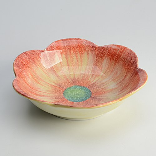 Fiori Primavera - Red Medium Serving Bowl Italian Dinnerware Handmade in Italy (Italian Ceramics Cachepot compare prices)