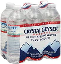 Crystal Geyser Spring Water 6 pack 169-Ounce Pack of 4
