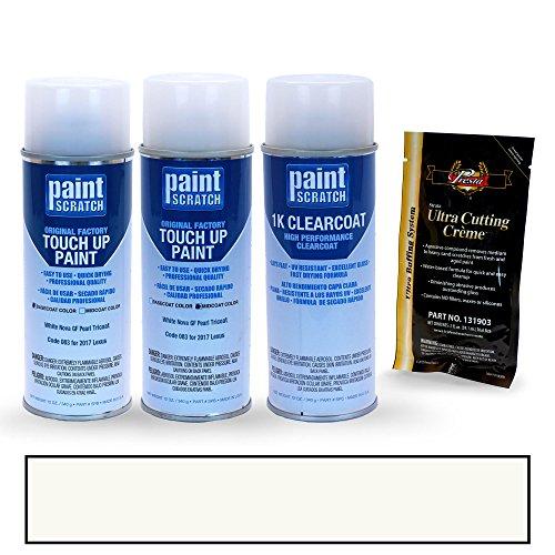 2017 Lexus CT 200h White Nova GF Pearl Tricoat 083 Touch Up Paint Spray Can Kit by PaintScratch - Original Factory OEM Automotive Paint - Color Match Guaranteed (Pearl White Lexus Ct 200h Paint compare prices)