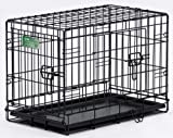 Midwest 1524DD 24-By-18-By-19-Inch iCrate Double-Door Pet Crate