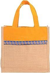 Empower Women's Messenger Bag (Beige & Yellow)