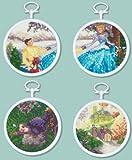 M C G Textiles Disney Dreams Collection Cinderella Mini Vignettes Counted Cross Stitch Kit