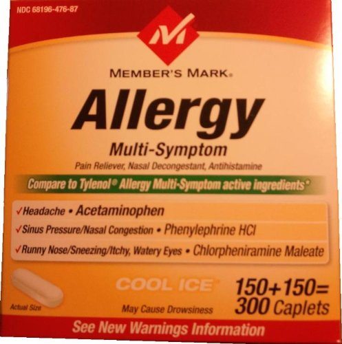 Member's Mark - Allergy Multi-Symptom, 300 Caplets