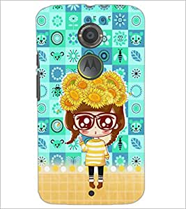 PrintDhaba Big Specs Doll D-3163 Back Case Cover for MOTOROLA MOTO X2 (Multi-Coloured)