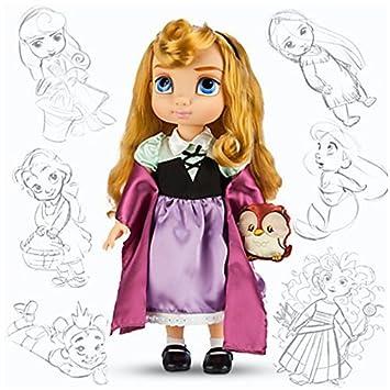 Disney officiel 38cm Belle au Bois Dormant Aurora Animator Toddler poupée avec Owl accessoires