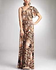Peach Snake Maxi Dress - bebe Addiction