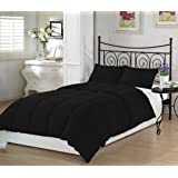 Black Twin Extra Long Comforter Set By Ivy Union