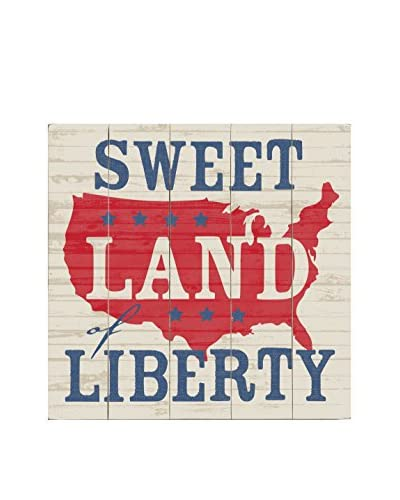 Artehouse Sweet Land Of Liberty Wood Wall Décor, Red/White/Blue, 18 x 18