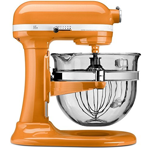 KitchenAid KF26M2XTG 6-Qt. Professional 600 with Glass Bowl, Tangerine (Kitchen Aid Mixer Tangerine compare prices)