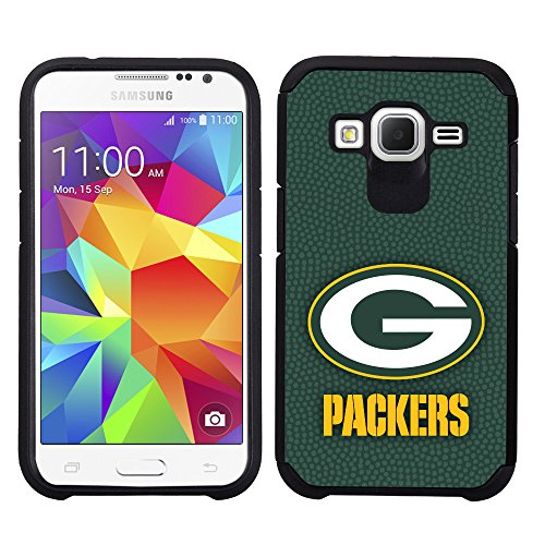 Green Bay Packers Samsung Galaxy Core Prime / 360 Pebble Grain Feel Case NFL Green