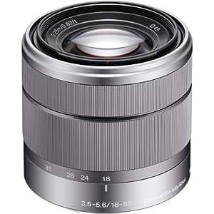Sony Alpha SEL1855 E-mount 18-55mm F3.5-5.6 OSS Lens (Silver)