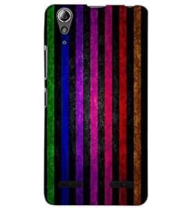 LENOVO A6000 PLUS COLORFUL STRIPES Back Cover by PRINTSWAG