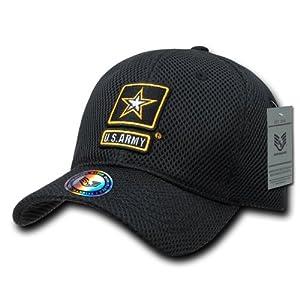 Rapiddominance Army Air Mesh Military Cap, Black
