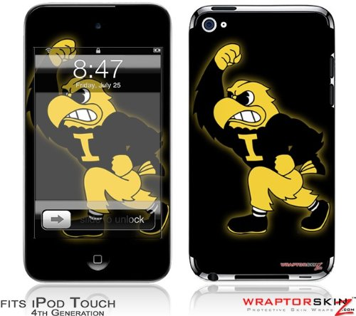 iowa hawkeyes wallpaper. iPod Touch 4G Skin - Iowa Hawkeyes Herky on Black. Price: $16.95