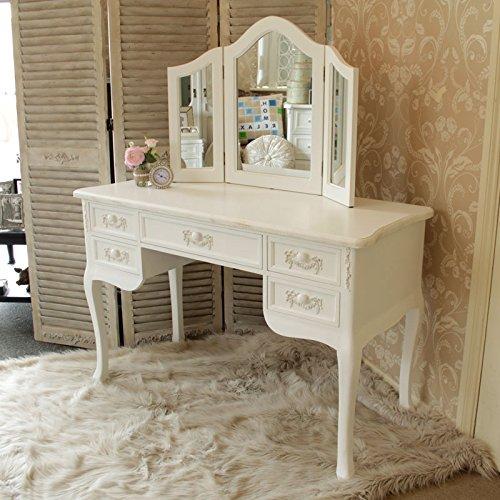 Bianco Antico Specchio da tavolo con triplo–Paga Blanc Gamma