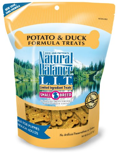 Natural Balance Potato and Duck Formula Dog Treats, 8-Ounce Bag