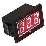 【HIROMARUjp】 防水 LED デジタル 電圧計 2線式 レッド