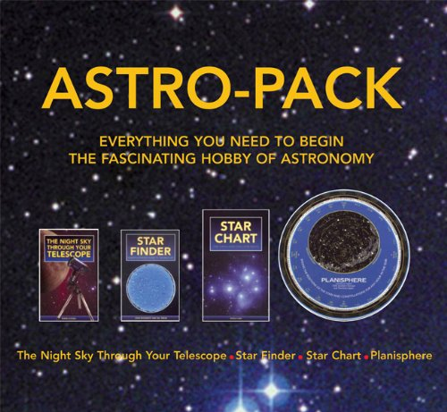 Astro-Pack All You Need To Know For Astronomy Hobby, Contains Star Finder, Star Chart, Night Sky And Planisphere In A Hard Bound Box