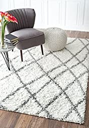 Nuloom 4\' x 6\' Alvera Easy Shag Rug in White