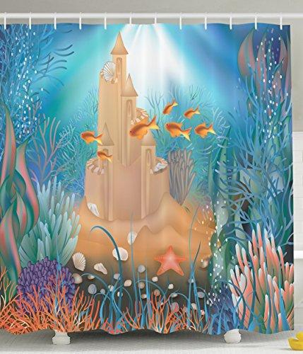 Fairy sand castle underwater dream world sea stars - Anna s linens bathroom accessories ...
