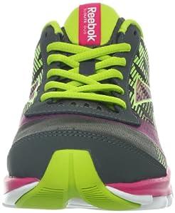 Reebok Women's Sublite Duo Chase Running Shoe,Rivet Grey/Candy Pink/Sonic Green/White,8 M US