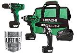 Hitachi KC10DFL 12-Volt Peak 3-Tool Li-Ion Combo Kit with Carrying Bag