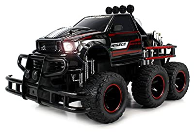 Velocity Toys Speed Spark 6x6 Electric RC Monster Truck Big 1:12 Scale RTR w/ Working Headlights, Dual Rear Wheels (Colors May Vary) from Velocity Toys