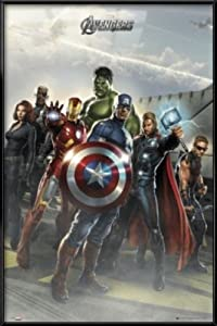 "The Avengers - Framed Marvel Movie Poster / Print (Flight Deck) (Size: 24"" x 36"")"