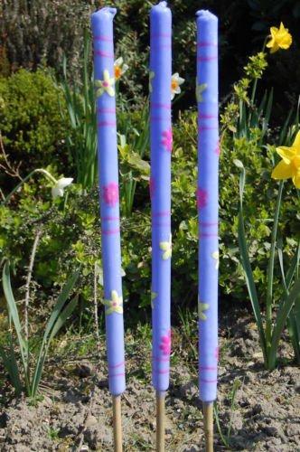 3 x Large Citronella Garden Torches Candles Citron BBQ Party Garden Pick Colour PURPLE / LAVENDER +NEW
