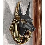 Design Toscano CL52612 Anubis, The Jackal God Wall Sculpture