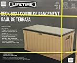 LIFETIME デッキボックス 439L 屋外用収納ベンチ 約128×64×67cm DECK BOX