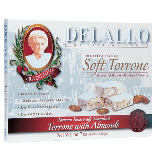 Buy DeLallo Soft Torrone Assorted Torrone 18 Pieces, 7-Ounce Unit (Pack of 3) (DeLallo, Health & Personal Care, Products, Food & Snacks, Snacks Cookies & Candy, Cookies)